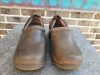 DANSKO Brown LEATHER KELSEY PROFESSIONAL CLOGS, WOMEN'S EU 39, US 8.5-9, EUC