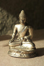 buddha,6,5x4cm,,alpaka,neusilber,figur,mönch,buddhafigur,buddhismus,modell1