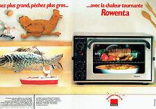 PUBLICITE ADVERTISING  046  1985  le four chaleur tournante (2p) Rowenta