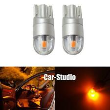 2x Amber Yellow T10 168 194 2825 906 2-SMD LED Interior Dome Map Lights Bulb