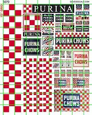 5070 DAVE'S DECALS HO CHECKERBOARD MILL FARM SEED FEED SILO GRAIN AG SIGNAGE