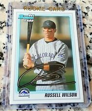 RUSSELL WILSON 2010 Bowman 1st TRUE Rookie Card RC SEAHAWKS Superbowl Ring HOT $