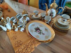 Bavaria Kaffee und Mokka Service 24 Karat Gold