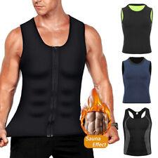 Men's Neoprene Sauna Sweat Shirt Body Shaper Waist Trainer Gym Fat Burner Vest