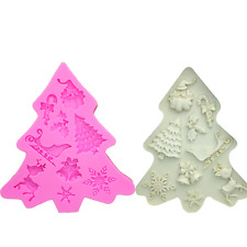Christmas tree Xmas decorations Silicone Mould, Mold, Cake Icing - M215