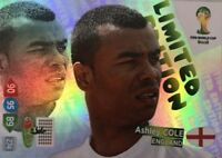 Adrenalyn XL World Cup 2014 Ashley Cole Limited Edition UK VERSION BY PANINI