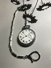 Feel The Power Of Stainless Steel Railroad Pocket Watch Chain 14 Inches Long
