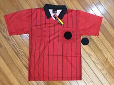 NWT FINAL DECISION Shirt Polo Sport Referee Soccer Red Detachable Patch Sz S