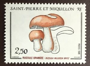 French Colonies St Pierre & Miquelon 1988 Mushrooms MNH