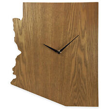 Arizona State Shaped Wood Grain Wall Clock Collection