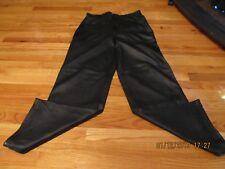 Vtg Marithe Francois Girbaud Black Mens Pebble Grain Leather Pants 33 Biker
