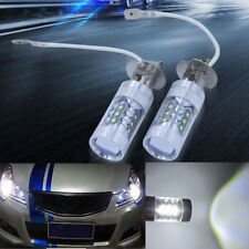 2x H3 80W CREE Super Bright LED Lamp Fog DRL White Light Car Head Bulb Tail Turn