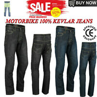 MADE WITH KEVLAR Motorbike jeans Motorcycle Trouser Denim Ce Protected Biker UK