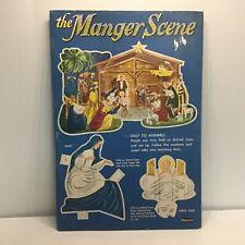 Vintage manger scene cut out book