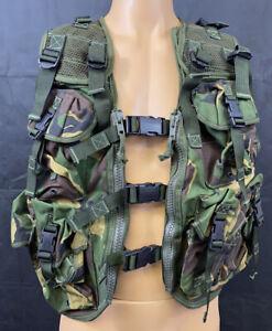British Military Woodland DPM Camouflage Adjustable Tactical Webbing Vest System