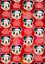 MINNIE MOUSE Personalised Christmas Gift Wrap - Minnie Mouse Wrapping Paper