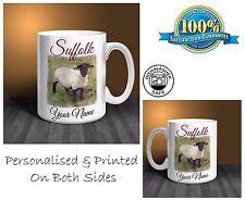 Suffolk Sheep Personalised Ceramic Mug: Perfect Gift. (S07)