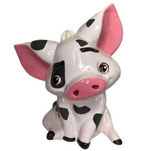 Disney Moana Pua Pig Ceramic Coin Piggy Money Bank Used A Few Marks