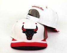 Mitchell & Ness NBA Chicago Bulls White Snapback Adjustable Hat Cap