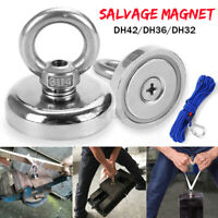 80KG-250KG Salvage Strong Magnet With Hooks Hunting Diving Fishing Recovery W