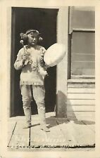 Vintage Real Photo PC Native American Patsy Henderson Lecturer of Klondike AK