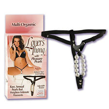 LOVERS THONG WITH PLEASURE PEARLS