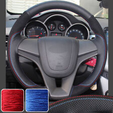 DIY Steering Wheel Covers Stitch on Wrap for Chevrolet Cruze 2011-15 12 13 14