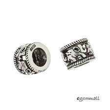 1PC Antiqued Sterling Silver Elephant European Charm Spacer Bead #99227