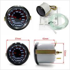 2″ 52mm Round Car SUV Smoke Lens White Digital LED Turbo Boost Gauge Meter 35PSI