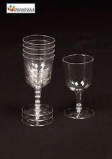 144 - CLEAR PLASTIC WINE GLASSES