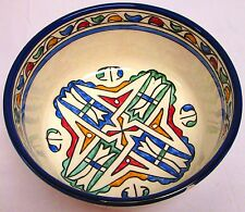 Moroccan Hand painted Ceramic Soup/Salad Bowl Plate Arabic Design