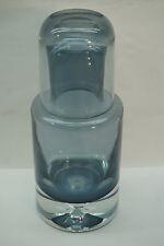 VINTAGE ART GLASS TUMBLE UP SET PITCHER CUP MID CENTURY DANISH MODERN SMOKE