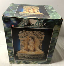 Vintage Italian Florentine Fountains Watermaid Tabletop Lighted Water Fountain