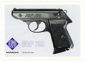 ERMA-WERKE Bedienungsanleitung ERMA EGP 790 Kal. 9mm P.A. Knall PISTOLE Manual