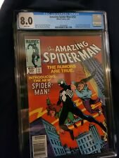 Amazing Spiderman 252 CGC 8.0 Newsstand White Pages