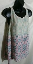 CABI Bella Top Sz Small Soft Pastel Colors Sleeveless Pasley Boho Kaleidoscope