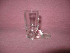 """Clear Glass Cowboy Boot Toothpick Holder Shot Glass 2 1/2"""" tall Original"""