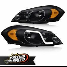 For 2006 2016 Chevy Impalalimited Withled Drl Black Smoked Headlight Lamps Fits 2006 Impala