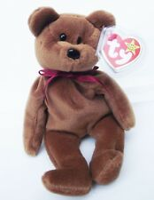 TY BEANIE BABY TEDDY BEAR # 4050 PVC 4TH GEN HANG & TUSH TAG 1993 RETIRED NEW