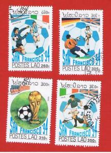 Laos #1067-1070 VF used  Soccer  Free S/H
