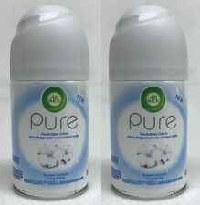 2 Air Wick Freshmatic Ultra SUNSET COTTON Automatic Spray Refill Life