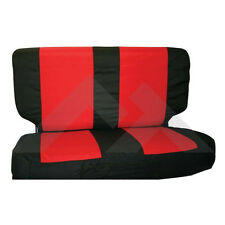 Rear Seat Cover Set Black/Red Jeep Wrangler TJ YJ 1987-2002 Rough Trail SCP20130