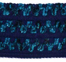 1 M 65 mm tuqoise Bleu Chenille Braid Trim Sewing fly tying material Bordure