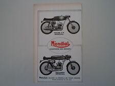 advertising Pubblicità 1972 MOTO MONDIAL 48 SS V4 SPECIAL/REKORD RECORD SPECIAL