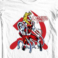 Omega Red t-shirt white retro comic books marvel super villain graphic tee