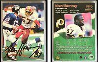 Ken Harvey Signed 1998 Paramount #248 Card Washington Redskins Auto Autograph
