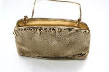 Vintage Whiting Davis Metal Mesh Cocktail Purse Club Shoulder Gold Hand Bag