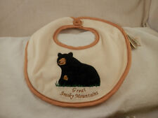 Bearington Baby Collection Great Smoky Mountains Bear Bib Nwt