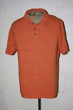 EUC Carbon 2 Cobalt Orange Cotton Polo Golf Shirt Sz L Large