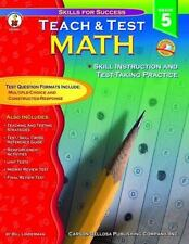 Teach & Test Math, Grade 5 (Skills for Success) Linderman, Bill Paperback